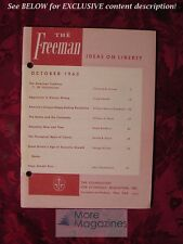 RARE The FREEMAN October 1963 Clarence B. Carson Ralph Bradford George Winder