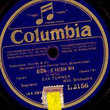 """EVA TURNER -SOPRAN- """"Aida"""" O patria mia / """"Il Trovatore""""  Schellackplatte  G3256"""