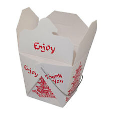Pack of 50 Pagoda Pint Chinese Take Out Container with Wire Handle / Favor Box
