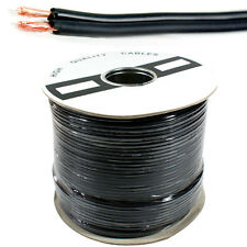100M - 2 Core Twin Audio Cable/Reel - Dual Shotgun RCA Stereo Phono AV Coax Wire