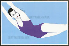 1980's Patrick Nagel Authentic Pin-Up Poster Art Print 11x17 The Swimmer