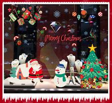 Feliz NAVIDAD Extraíble Adhesivos De Pared Ventana Vinilo Navidad