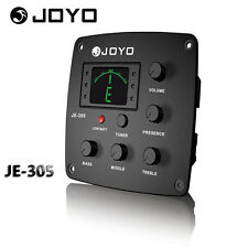 JOYO JE-305 4 Band EQ Equalizer Acoustic Guitar Preamp Piezo Pickup & Tuner