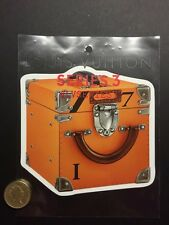 New Louis Vuitton Orange Trunk Series 3 Exhibition Original Fashion Sticker