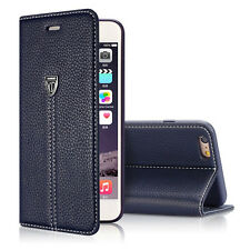 Luxury Hot Sale Magnetic Flip Cover Stand Wallet Leather Case For iPhone 6 Blue