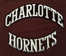 Charlotte Hornets Two Piece NBA Team Logo Embroidered Felt Patch
