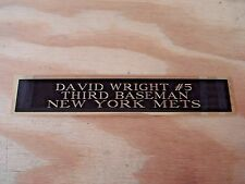 David Wright Mets Engraved Nameplate For A Signed Baseball Photo Or Bat 1.25 X 6