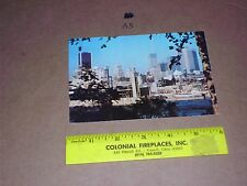 PRE STAMPED POSTCARD SKYLINE MONTREAL QUEBEC CANADA Freighter Ship Train RR