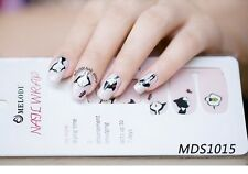 16pcs KAWAII CAT Nail Wrap Autoadesivo decalcomanie adesivi Nail Patch mds1015