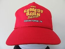 Vintage Snap-Back Hat The Comedy Barn Pigeon Forge Tennessee Red Trucker Cap