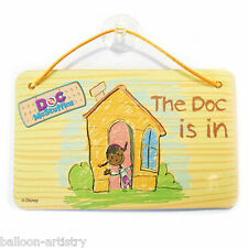 6 Disney Doc McStuffins Party The Doc Is In Hanging Card Door Signs Favours