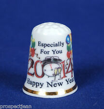 """SPECIAL OFFER"" Happy New Year 2014 Ltd Edition of100 China Thimbles B/25"