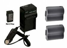 TWO 2 Batteries + Charger for Panasonic DMC-FZ7S DMC-FZ7BB DMC-FZ7BS DMC-FZ7EBK