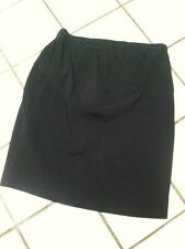 MATERNITE Maternity_Elastic Waist Stretch Cotton Black Casual Pencil Skirt Sz SM