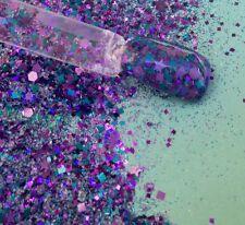 glitter mix acrylic gel nail art   JEALOUS