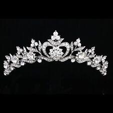 Bridal Floral Rhinestone Crystal Prom Wedding Crown Tiara 8905