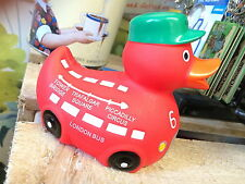 London Bus rubber duck bath fun Baker Street Driver Red Routemaster Depot bnip