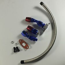 TURBO OIL DRAIN RETURN LINE KIT+10AN FITTING/ADAPTER TURBOCHARGER T3/T4 GT45 T04