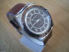 NEW MENS BEN SHERMAN WATCH  ROUND BRONZE  DIAL BROWN FAUX LEATHER STRAP  R928