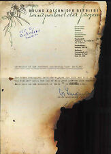 THE BEATLES REPRO 1960 TOP TEN CLUB HAMBURG GERMANY CONCERT CONTRACT JOHN LENNON