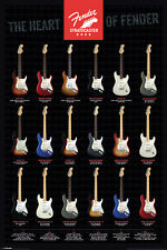 FENDER STRATOCASTER HEART OF FENDER 91.5X61CM  POSTER NEW DISCOUNTED PYRAMID