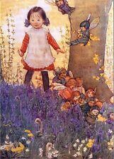 Susan Beatrice Pearse Art Card Girl & Fairy Children