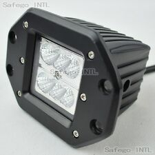 1X 24W CREE LED WORK LIGHT bar Flood offroad 4X4 ATV SUV fog flush mount 27W 18W