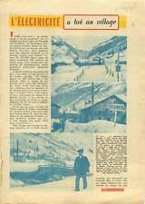 Barrage du Chevril à Tignes Savoie Electricité hydroélectrique 1954 ILLUSTRATION