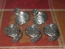 WHOLESALE LOT 5 VINTAGE STYLE ADJUSTABLE ROSE SILVER SPOON RING SIZES 5-10