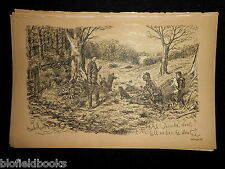Antiquarian Sporting Print - Hunting/Shooting Party (Fore's Notes/Sport c1886)