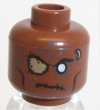 Lego Cannibal Zombie Head x 1 Reddish Brown for Minifigure
