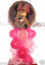 BALLOON TABLE DISPLAY BIRTHDAY PARTY DECORATION MINNIE MOUSE PORTRAIT AIR FILL