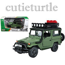 Motormax Toyota FJ 40 Land Cruiser 4x4 Off Road 1:24 Diecast 79137 Matt Green