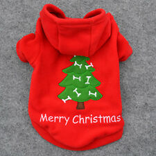 Autumn Winter Puppy Small Dog Pet Clothes Christmas Tree Pattern Coat T Shirt