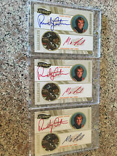 2009 Press Pass Dual Auto Lot - RANDY COUTURE - KING MO LAWAL 01/50 Rainbow UFC
