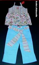 NWT BABY NAY Pink Tangerine Spring Madame Butterfly 2pc Tiered Tank Pants Set 5