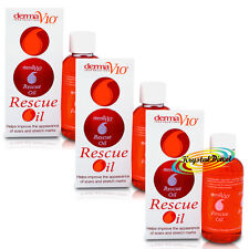 3x Derma V10 Rescue Oil 40ml For Ageing Skin, Scars And Stretch Marks Bath Oil