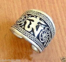 Nepal/Tibetan Tibet Silver One Word Mantra Thumb Ring