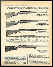 1969 WINCHESTER Model 121 Standard Deluxe Youth & 52D  Bolt Action Rifle AD