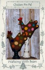 Chicken Pin Pal - Pattern by Waltzing With Bears - Chicken Pincushion From Wool