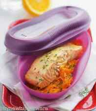 Tupperware Breakfast Meal Maker for One! Microwave Eggs Bacon Fish + Purple New