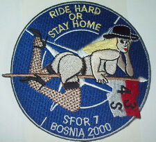ARMY 4th BN 3rd Cavalry Reg S Bosnia 2000 MILITARY Patch RIDE HARD OR STAY HOME