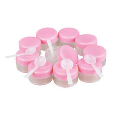 Wholesale 10 Pink Lid Plastic Empty Makeup Cosmetic Cream Jar Bottle ContaIner