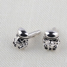 Star Wars Stormtrooper Enamel Superhero Mens Wedding Party Cuff Links Cufflinks