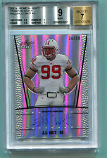 JJ Watt 2011 Leaf Metal Draft Auto #38/50 Auto Silver Rookie RC BGS 9 MINT