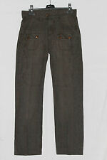 pantalon kenzo homme  raye carreaux marron t 38 us 29