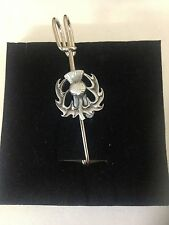 "Thistle R29 Pewter Emblem Kilt Pin Scarf or Brooch 3"" 7.5 cm"