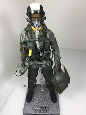 "1/6 BBI ELITE FORCE US NAVY F-18 ""TOP GUN"" FIGHTER PILOT+STAND+BAG DID DRAGON RC"