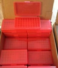 BERRY'S PLASTIC AMMO BOX 50 Round 30 32 S&W  38 357 (BUY 4 GET 1 FREE) 403 1 RED