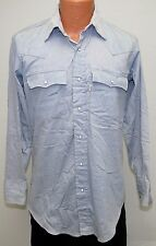 vtg Levi's FAINT BLUE-GRAY Western Shirt MED 1980 Olympics Team USA White Tab